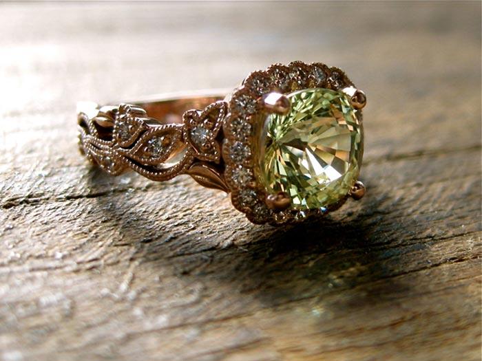 кольцо с хризобериллом